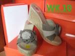 Sandal Wedges Cantik Online Motif Bunga